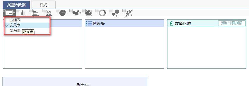 商业智能系统表格组件类型